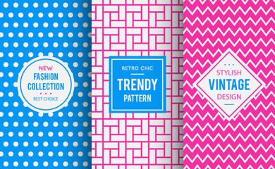 Chic seamless pattern