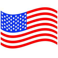 developing  flag of America