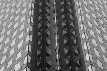 Texture cubicle lige black and white windows
