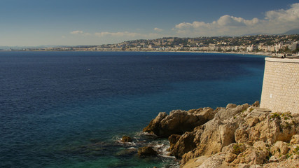 Foto op Canvas Arctica Aerial Panoramic View Nice French Riviera France Beach