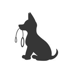 Puppy silhouette illustration
