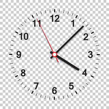 Clock icon vector illustration. Office clock on isolated background.