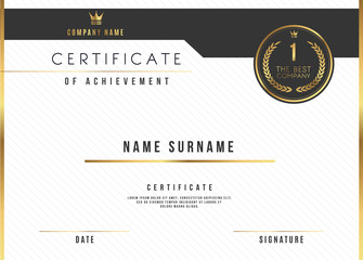 Vector Certificate Template Design with Certificate Award.