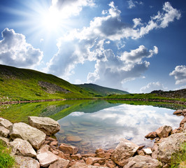Wall Mural - mountain lake