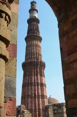 The Qutb Minar monument in New Delhi, India