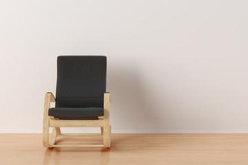 Rocking chair in bright interior.