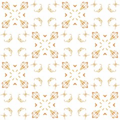 Texture with 3D rendering abstract fractal orange pattern