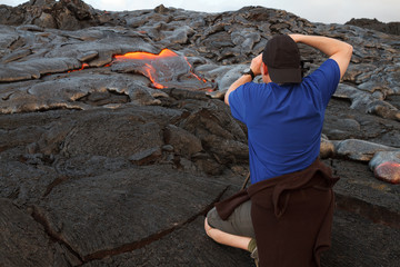 Photographing Lava Flows on the Big Island of Hawaii