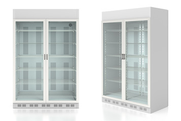 Empty display refrigerator