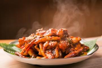 ojingeo bokkum is stir fried squid