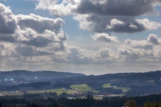 Chehalem Mountains and Tualatin River Valley View