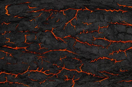 Grunge. Cracks on black background