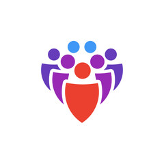 Vector icon or illustration showing group of people in material design style