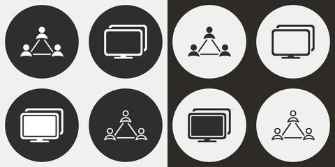 Network icon set.