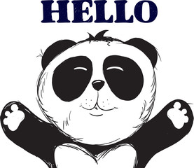 Vector Panda, illustration panda, vector illustration. Animal vector.