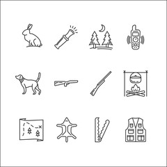 Hunting vector icon set