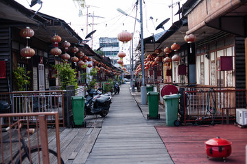 Penang, Malaysia architecture narrow streets