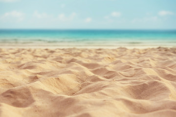 summer sand beach and sea background