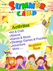 banner poster design template for kids summer camp activities buy