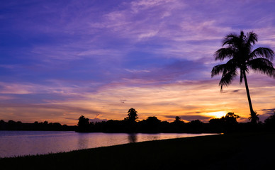 Purple Sunset in Miami Florida
