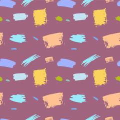Brush stroke artistic seamless pattern