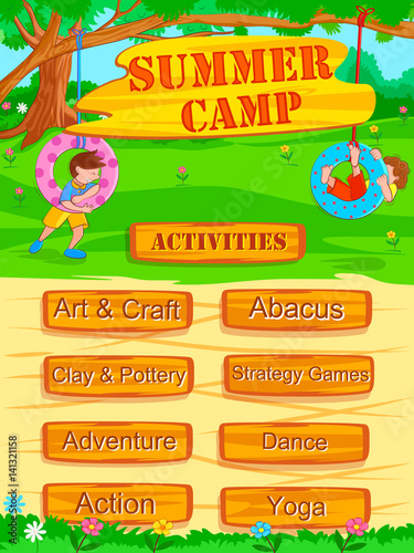 summer camp template word