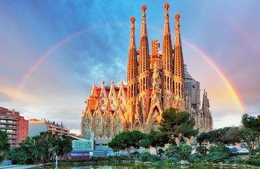 Photo sur Toile Barcelone Sagrada Familia