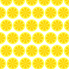 Seamless pattern with lemons