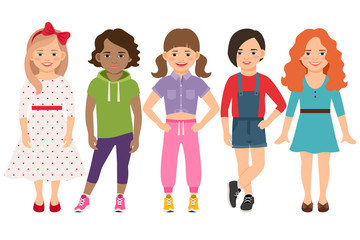 Stylish child girls set
