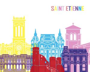 Wall Mural - Saint Etienne skyline pop