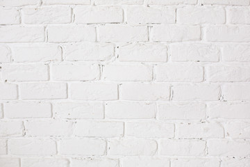 White brick wall empty space texture background for text