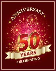 Anniversary card 50 years