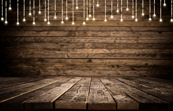 Empty wooden background table
