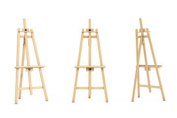 Wooden Artist Easel. 3d Rendering