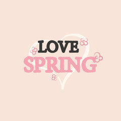 Spring Hand Drawn Lettering Greeting Background