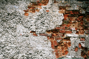 Old destroyed wall.