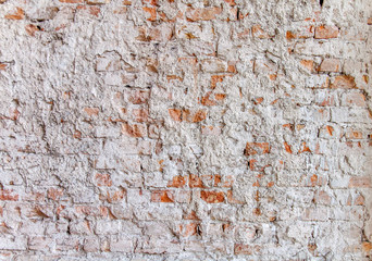 Red cement brick wall texture background
