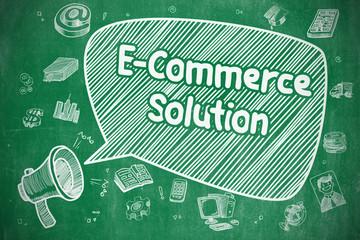 E-Commerce Solution - Business Concept.