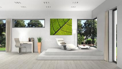 verschiedene moderne fenster in einem wohnzimmer interior