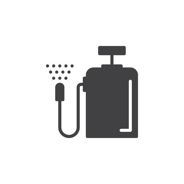 Pressure sprayer icon vector, filled flat sign, solid pictogram isolated on white. Symbol, logo illustration. Pixel perfect
