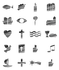 Diverse christliche Symbole