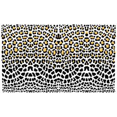 vector background of leopard skin pattern