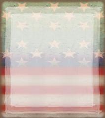 Grungy american flag frame
