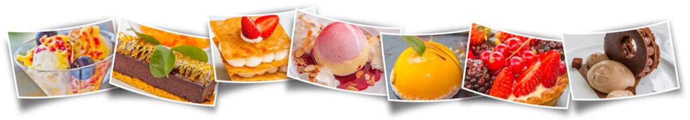 Keuken foto achterwand Dessert farandole de desserts
