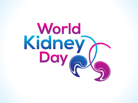 abstract world kidney day text