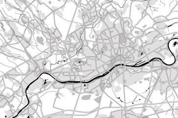 Black and white scheme of the Frankfurt am Main, Germany. City Plan of Frankfurt am Main