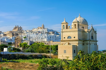 Ostuni in Apulien, Italien - the old town Ostuni in Apulia