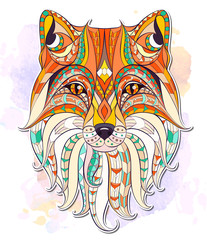 Patterned head of the fox