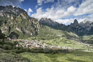 Mountain ranges, Zhagana, Gansu Province, China