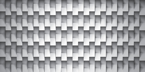 Volume realistic vector texture, gray cubes, steps geometric pattern, design wallpaper